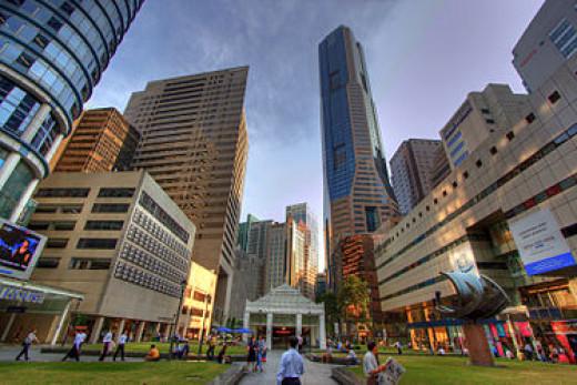 Raffles Place Commercial District Singapore 2014