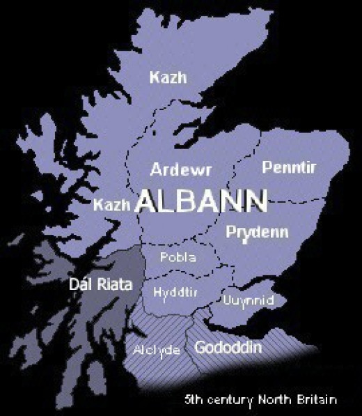The make-up of Pictish Albann - this was Scotland before the Scots or Angles