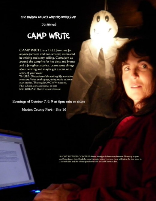 Tell Us Your Scary Story: October Camp-out with Writers.