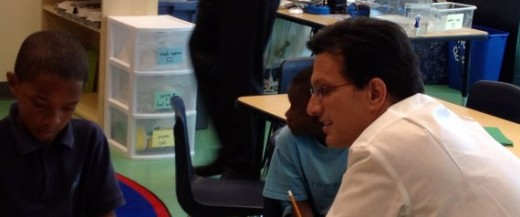 Eric Cantor (R-VA) visiting a charter school in Washington