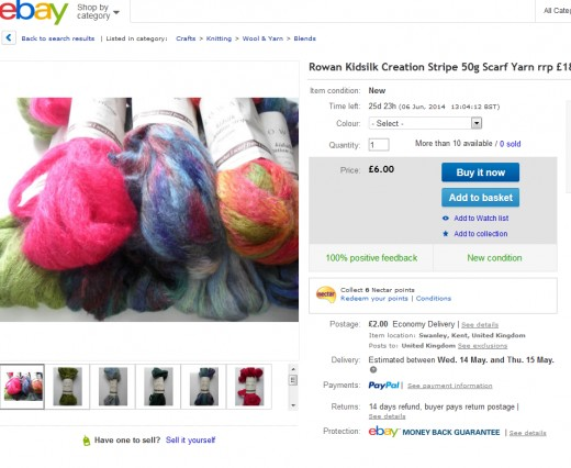 eBay has a great system for selling variations of items- perfect for selling supplies