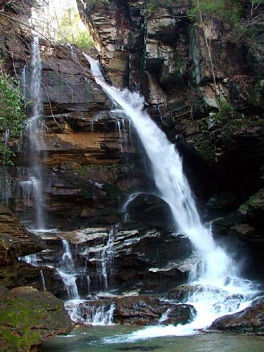Big Bradley Falls near Saluda NC