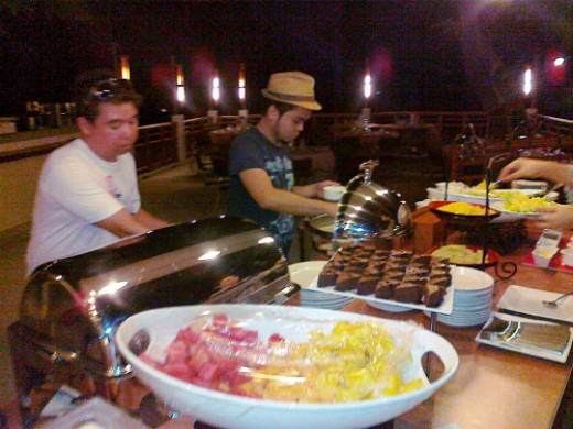 Desserts at dinner time