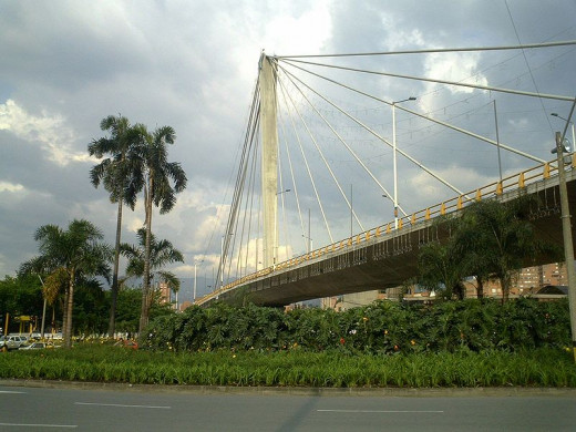 The Peldar Bridge at Envigado is a concrete cable-stayed bridge in Envigado, Colombia.