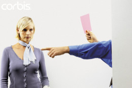 Businesswoman being fired.