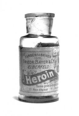 Bayer's heroin bottle.