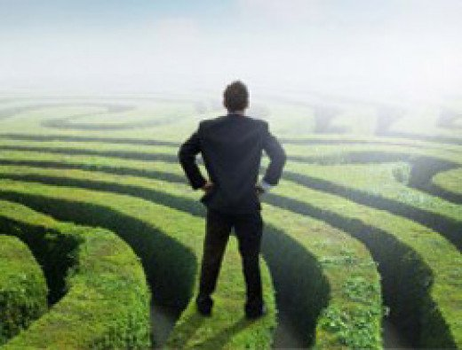 The maze represents us finding our purpose in life.