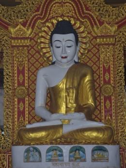 The Buddha statue at the Global Vipassana Pagoda, Mumbai, India