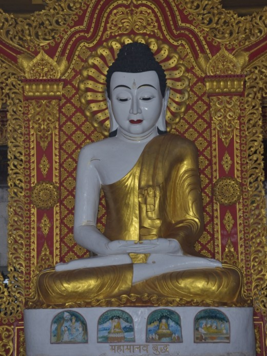 The Buddha statue at the Global Vipassana Pagoda, Mumbai, India