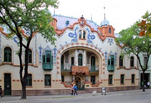 Raichle Palace, Subotica, Serbia. Built in 1904 by Ferenc J. Raichle (Raichl)