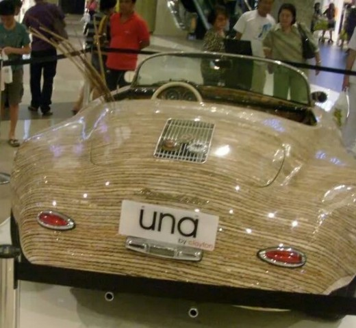 Roam around the city and you may just find a one of a kind car made from coconut by products. UNA