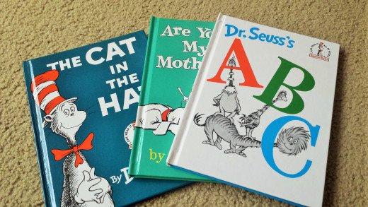 Dr. Seuss books rhyme and have silly words that keep children wanting to listen to more as the story unfolds.