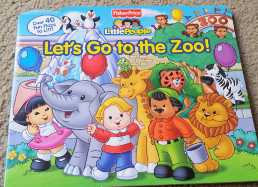 "This book called, ""Let's Go To the Zoo,""  is a fun book for little ones because you can open up the flaps to reveal the animals."