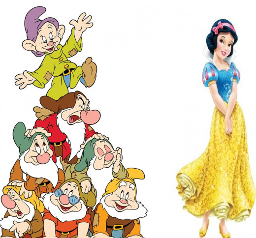 Snow White Royal Debut - Disney/Seven Dwarfs (Snow White and the Seven Dwarfs) Life-Size Standup Poster , 42x66