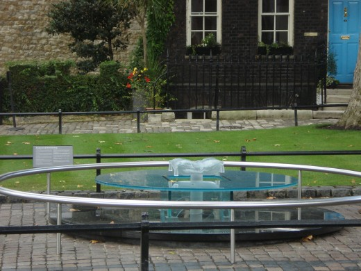 Tower Green - Scaffold site today - Anne Boleyn was executed here. Tower of London