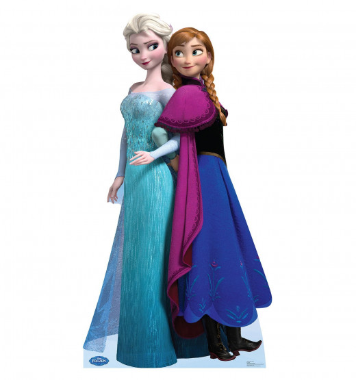 Advanced Graphics Party Decoration Lifesize Cardboard Standup Cutout Standee Poster Elsa and Anna Disney's Frozen