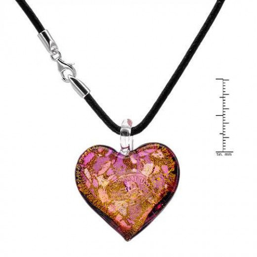 Beautiful Glass Heart Jewelry Pendant