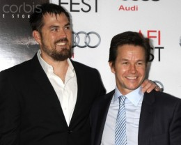 "Marcus Luttrell, left, advisor and Mark Wahlberg, star of ""Lone Survivor."""