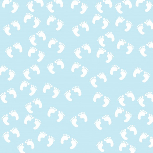 Baby Footprints Blue Clipart Free