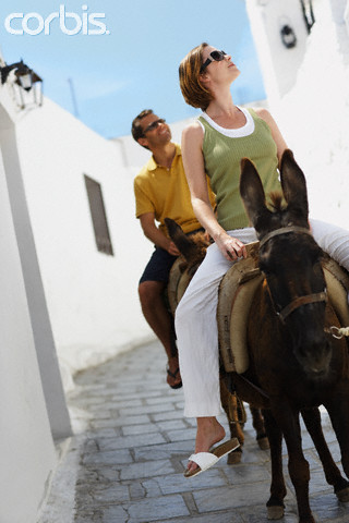 Riding a donkey through the front door.