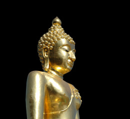 Buddah Gold Statue Buddhism Thailand Asia
