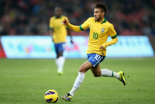 Neymar Playing For Brasil