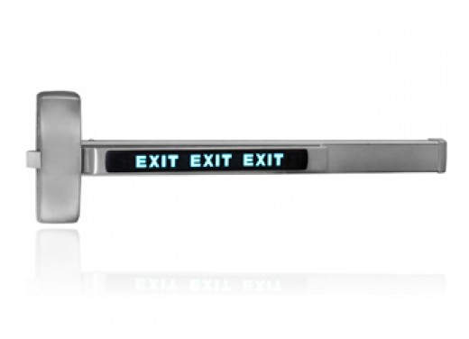 "Sargent Rim Exit Device with ""Sarguide"" Illuminated Exit Signage"