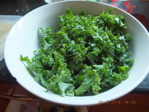 Kale will look more full in the bowl than the swiss chard. The kale is a sturdier plant but cooks up much the same. Both greens offer a multitude of health benefits.