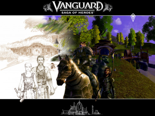 Legendary fantasy illustrator Keith Parkinson known for his book covers and artwork for games such as EverQuest, Guardians, and Magic: The Gathering created the initial world art for Vanguard: Saga of Heroes before his untimely passing.