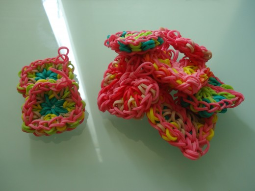 8 Lacy Hearts and 2 Granny Squares