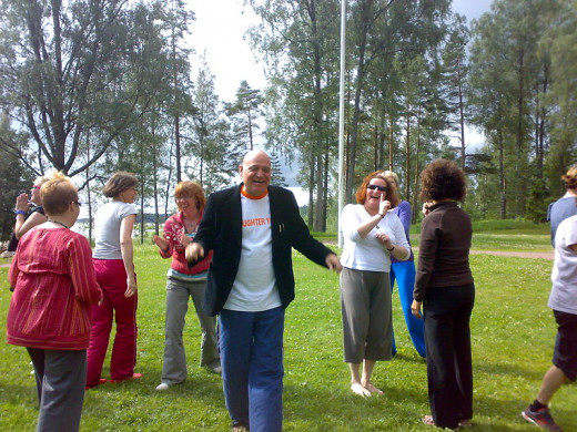 Laughter Yoga Teacher Training Finland 2009. Photo by Nauravainenanu