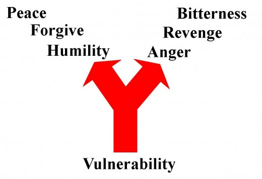 Since vulnerability exposes our weaknesses, we often become angry, thinking that in doing so, we can regain our strength. It is better to choose humility, allowing our weaknesses to leave room for growth and development.