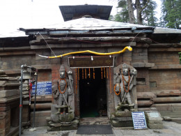 Entrance to the temple of Nageswar, Jageswar, Almora