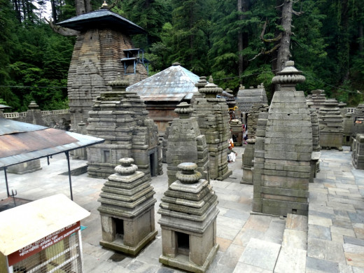 A glimpse of the Jageswar temple complex