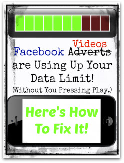 Facebook Adverts are Stealing Your Data Download Limit - How To Stop It!