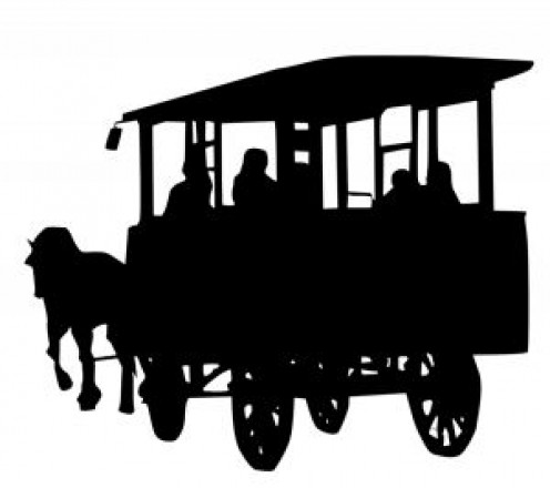 "A carriage similar to the ""school coaches"" of the story..."