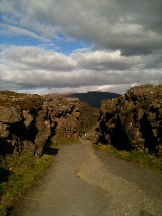Rock fissures