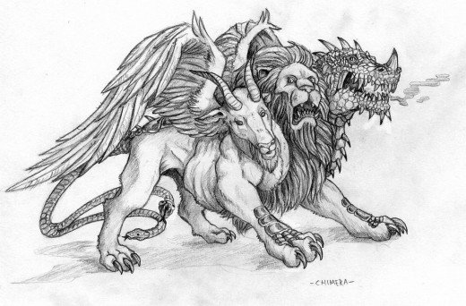 The Chimera is a mixed species concept often depicted in art such as this Christian concept of the beast. But, with GMO manipulation, chimeras of mixed species animals may not be so far off the mark.