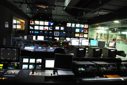 Your home news room may not be as high tech as the ATV news room!