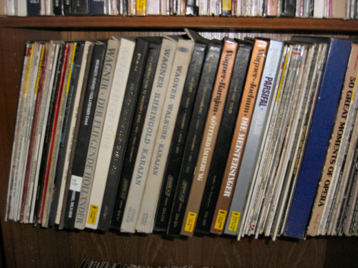 The Wagner LP collection including the LPs I purchased back in the 1960s in the Army - still in excellent condition!