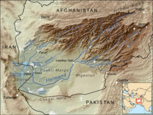 Basin of Helmand River