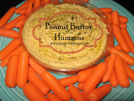 For less than a dollar and only 5 minutes, you can make your own delicious hummus using a blender at home!  The secret?  Use natural peanut butter instead of expensive tahini (sesame paste)!