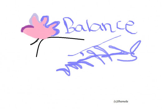My art I call balance.