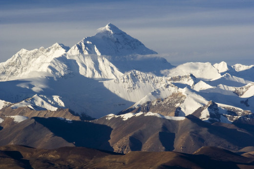 The north face of Mount Everest.