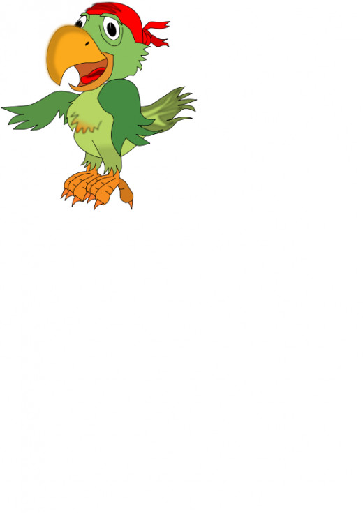 pirate 's companion parrot clipart