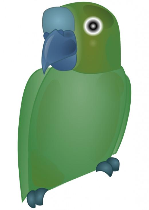 green parrot clipart