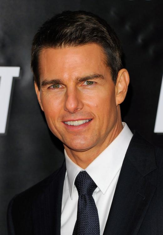 Tom Cruise- Handsome Hollywood superstar.
