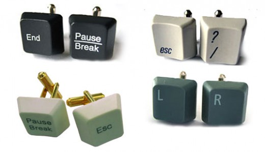 Recycled Computer Keyboard Cuff Links