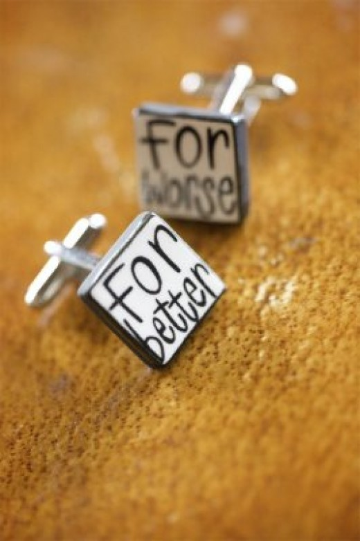Cuff Links to Remind You of Those Wedding Vows!