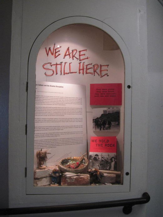 One of the American Indian displays inside the museum.